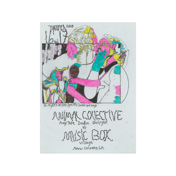 ANIMAL COLLECTIVE MUSIC BOX POSTER