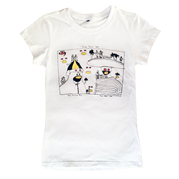 ANIMAL COLLECTIVE SUNG TONGS WHITE TEE