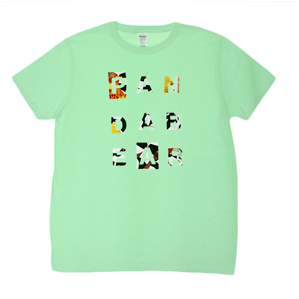 PANDA BEAR LETTERS MINT T-SHIRT