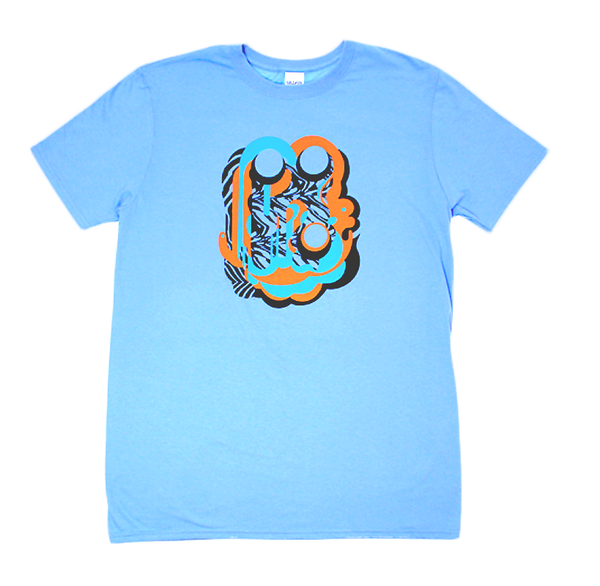 PANDA BEAR BLUE LAYERS TOUR T-SHIRT