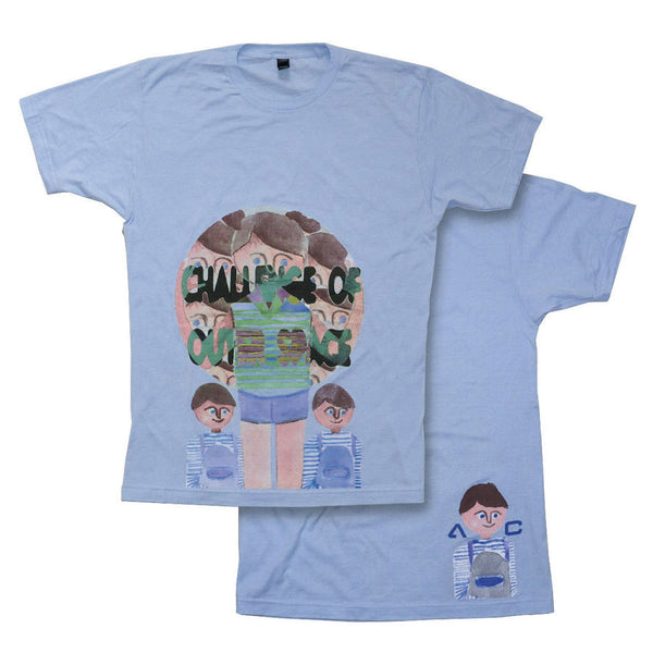 AC OUTER SPACE LIGHT BLUE T-SHIRT
