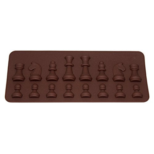 Millya Silicone International Chess Shape DIY Chocolate Mould Jelly Candy Ice Cream Cake Fondant Molds Baking Tool
