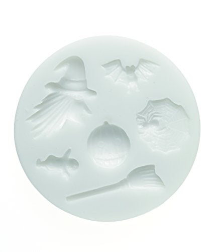 silikomart 71.313.00.0096 Mould for Sugar Paste SLK213 Halloween Silicone-White