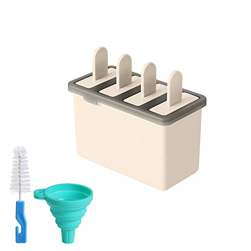Silicone Popsicle Molds Ice Lolly Maker Set Ice Lolly Moulds Silicone Ice Cream Moulds Silicone Silicone Ice Pop Moulds Ice Pop Maker Ice Cream Mould Kids Silicone Ice Pop Mold (Beige)