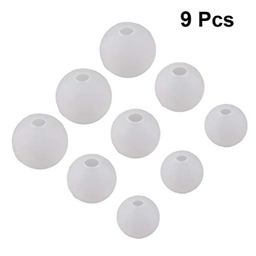 Supvox Silicone Mould Resin DIY Ball Round Silicone Resin Shape Epoxy Sphere Resin Molds DIY Craft for Jewellery Flower Pattern Candle Soap and Decorations 9 Pieces (20 mm 25 mm 30 mm)