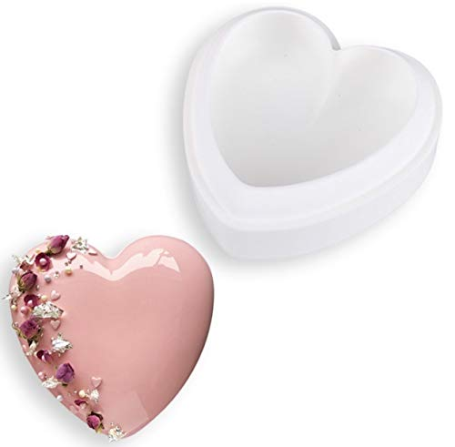 Silicone Non-Stick Heart Shape Mould for Cake  Pudding and Mousse Cake