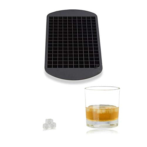 Silicone Ice Cube Tray  for 1 cm Ice Cubes  BPA-free  For Cocktails  Ice Cube Mould  HxWxD: 1 x 23.5 x 12 cm  Black