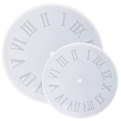 SIMUER 2pcs Roman Numerals Resin Silicone Mold for Making Numerals Clock DIY Hand Craft Mould Tool Epoxy Resin Jewelry - Two Sizes