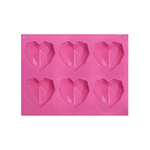 Silicone Heart Mould for Making Chocolate Cake Reusable Ice Cube Trays for Freezer Easy Release Creative Novelty Box