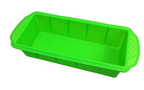 Original GMMH Silicone Baking Tin - Loaf Pan - Baking Mould - Cake Tin - Bread Pan - King Cake Pan - Green