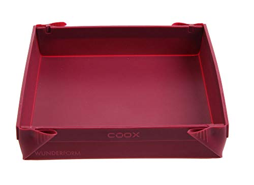 Wunderform Coox Silicone Baking Mould 24 x 24 x 4.5 cm dark red