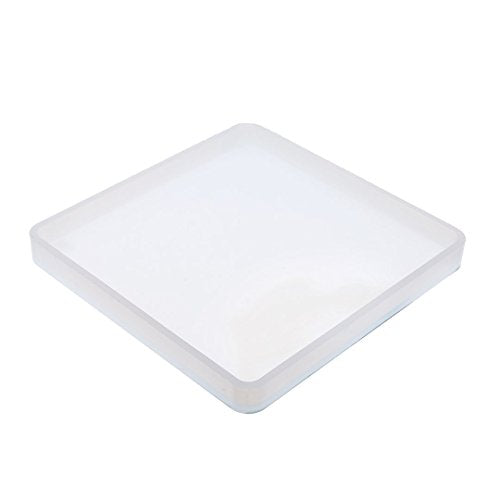 Silicone Mold Square Clear Resin Polymer Clay Tools Craft Jewelry Making Mould 98mm