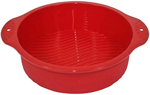 WenX Silicone Worx Silicone Round Cake Pan/ Mould  Red