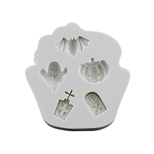 STOBOK Halloween Theme Silicone Cake Mould Chocolate Fondant Cake Decoration Baking DIY Tools (Greyish White)
