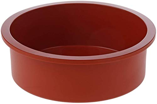 silikomart Silicone Mould  Round  180  Terracotta  7.1 x 2.6-inch high