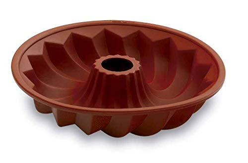 Lacor-66734-SINGLE SILICONE MOULD LOW SAVARIN 23 CM