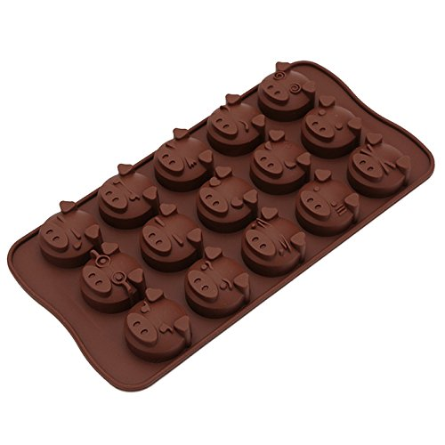 Millya Silicone Pig Shape DIY Chocolate Mould Jelly Candy Ice Cream Cake Fondant Molds Baking Tool (377 Pig)