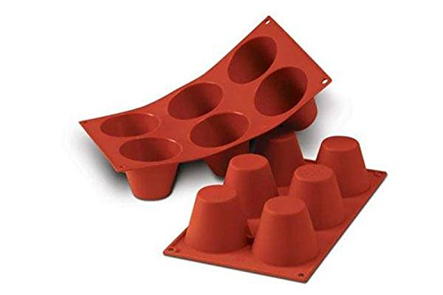 Silikomart 20.052.00.0060 Silicone Mould No. 6 Muffins  Tall  Terracotta