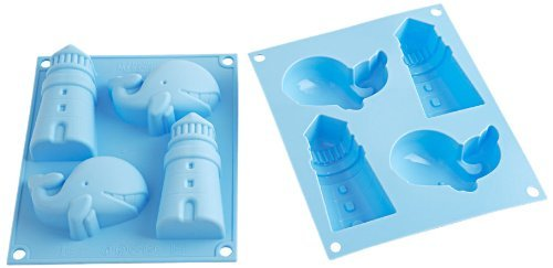 silikomart 26.008.93.0065 HSF 08 Happy Sea Marine Theme Silicone Mould 16.1 x 3.5 x 19.5 cm light blue