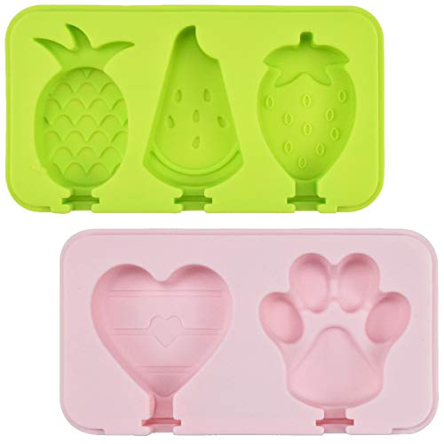 Jinlaili Silicone Ice Lolly Moulds with Lids  Ice Cream Moulds  Popsicle Molds with 12 Sticks  Ice Pop Mould  Reusable Ice Lolly Molds Ice Lolly Makers  Popsicle Moulds for Kids- Food Grade  BPA Free