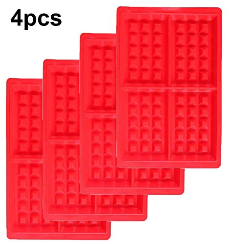 Silicone Waffle Mould Waffle Baking Molds Bakeware High Quality Muffin Mould Non Stick Baking Pan Square  4pcs