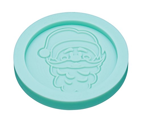 KitchenCraft Sweetly Does It Santa Silicone Fondant Mould  Blue