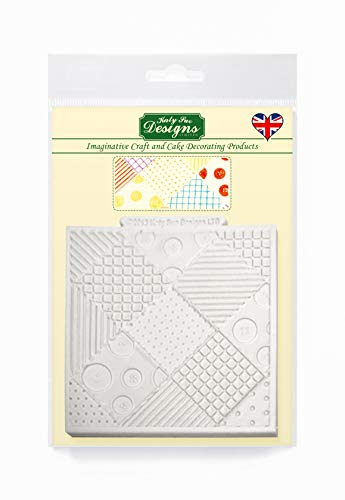 Patchwork Quilt Silicone Mould for Cake Decorating  Crafts  Cupcakes  Sugarcraft  Candies  Chocolate  Card Making and Clay  Food Safe Approved  Made in The UK