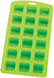 HIC Brands that Cook Silicone 18-Square Ice Cube Tray and Baking Mould  22.9cm by 10.8cm  Spring Green