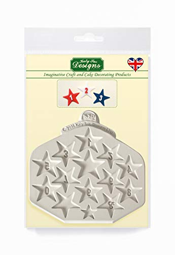 Star Numbers (0 to 9) Silicone Mould for Cake Decorating  Crafts  Cupcakes  Sugarcraft  Candies  Card Making and Clay  Food Safe Approved  Made in The UK