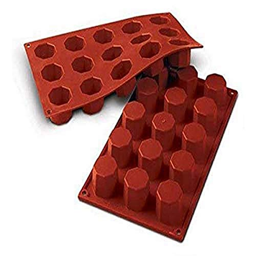 Silikomart 20.037.00.0060 Silicone Mould Octagon  38 mm  Terracotta