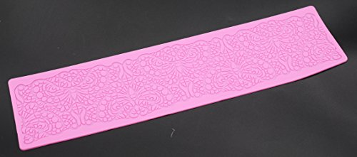 Silicone Fondant Mat Sweetly Does It Cake Decorating Sugar Craft Baking Mat Mould Lace Border Icing Flower Pattern (Fondant Mat D)