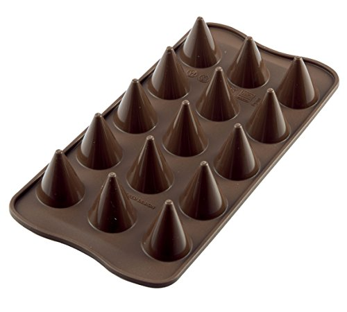 silikomart Silicone Chocolate Mould Cone  Brown