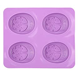 4 Grid Handmade Soap Mold Silicone Cake Mold Tool Silicone DIY Candy Cookie Fondant Cake Chocolate Mold Baking Mould Decoration Tree Shape