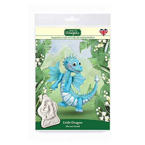 Katy Sue Designs CF0012 Little Dragon Silicone Mould for Cake Decorating  Crafts  Cupcakes  Sugarcraft  Cookies  Candies  Cards and Clay  Food Safe Approved  Made in The UK  Grey