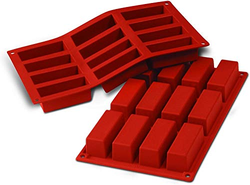 silikomart Silicone Mould Mini Rectangular Cakes  Terracotta