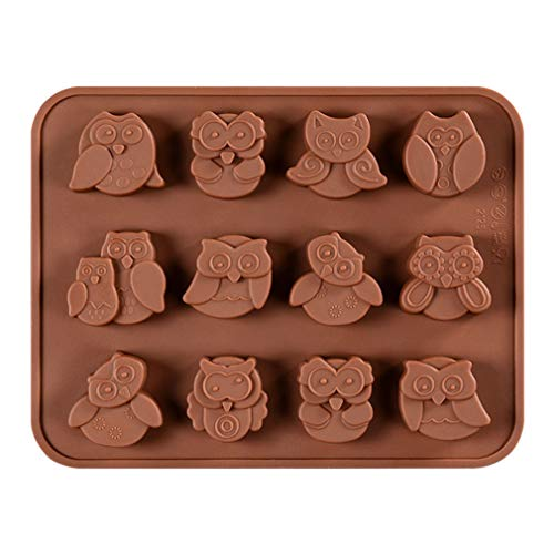 JasCherry Silicone Mould for Chocolate  Jelly and Candy - Animal series - Owl - Color Random