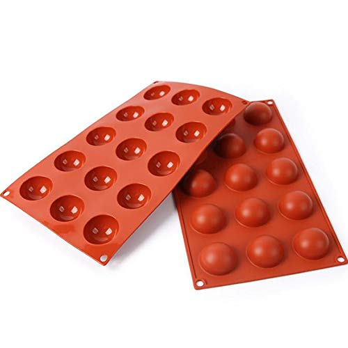 Tingz Silicone Mould Semi-Sphere,Cake Model  Baking Mold  Mini  37 mm  Terracotta