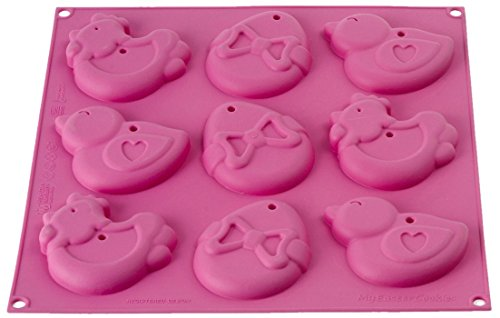 silikomart Silicone Mould My Easter Cookies  Fuchsia
