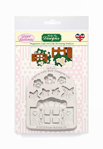 Enchanted Window and Flowers Silicone Mould for Cake Decorating  Crafts  Cupcakes  Sugarcraft  Candies  Card Making and Clay  Food Safe Approved  Made in The UK  Sugar Buttons by Kathryn Sturrock