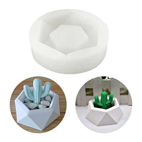 Silicone Flower Pot Mold 3D Craft Handmade Silicone Soap Bottle Mold Succulent Plant Flower Pot Silicone Mold DIY Candle Holder Mould Ceramic Clay Craft Casting Concrete Supplies Cement Making Molds