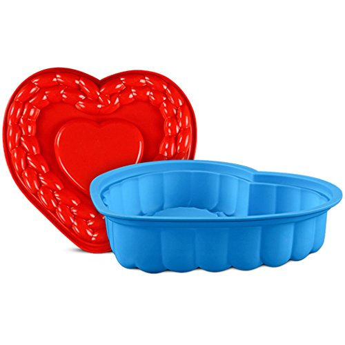 JasCherry Heart Silicone Mould Cake Pan Non Stick Flexible Baking Tin Mold Kitchen Bakeware Moulds #2