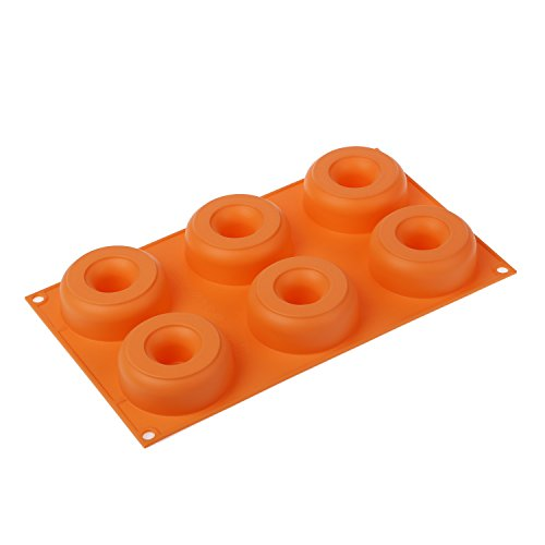 silikomart Silicone Mould Nr.6 Donuts  Orange