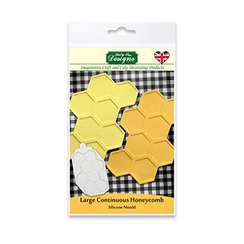 Large Continuous Honeycomb Silicone Mould for Cake Decorating  Crafts  Cupcakes  Sugarcraft  Candies  Cards and Clay  Food Safe Approved  Made in The UK