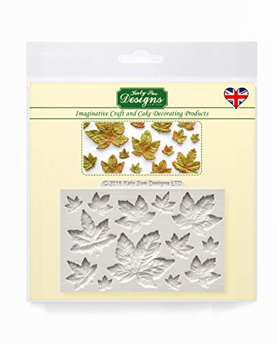 Maple Leaves Silicone Mould for Cake Decorating  Crafts  Cupcakes  Sugarcraft  Candies  Chocolate  Card Making and Clay  Food Safe Approved  Made in The UK
