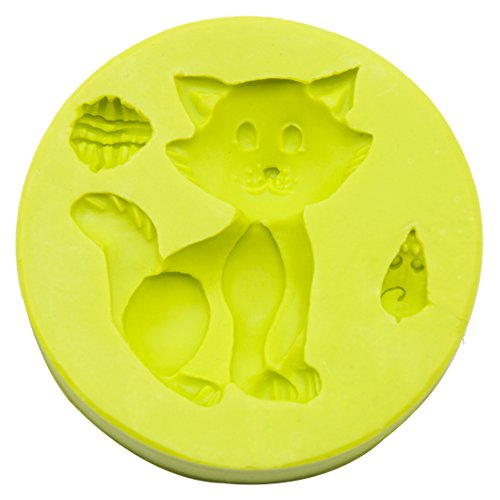 Silicone Fondant Mould  Cat and Mouse Silicone Cake Mould Sugarcraft Candy Mold DIY Cake Decorating Tools