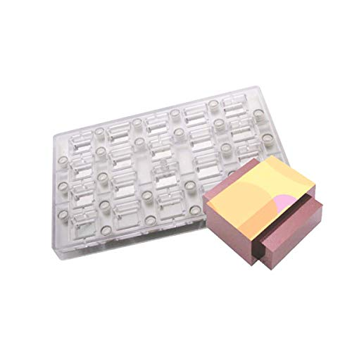 Silicone Bakeware Double Crossing Rectangles Magnetic Chocolate Mould  Acrylic  27.5x17.5x2.4 cm