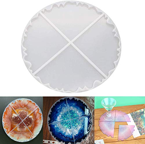 Wave Agate Coaster Resin Casting Mold Silicone Making Epoxy Mould Clay Coaster Epoxy Resin Mould for Home Decoration Craft DIY