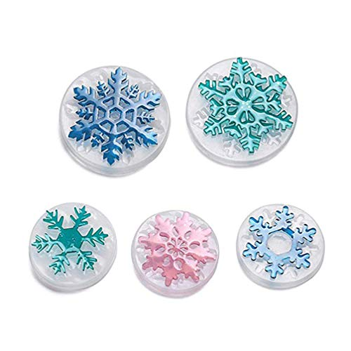 Supvox 5pcs Christmas Resin Casting Molds Snowflake Silicone Jewelry Mould Jewelry Making DIY Crafts for Christmas