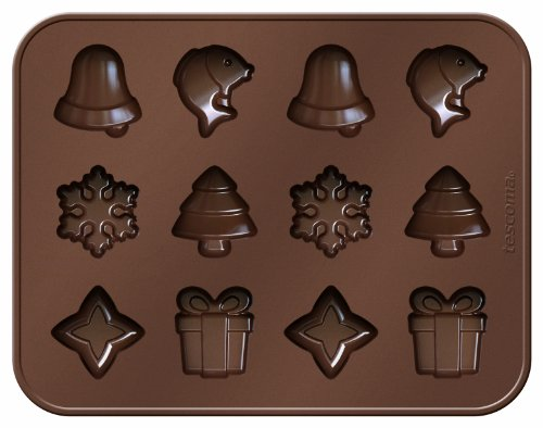 Tescoma Chocolate Mould Set  Christmas Themes Delicia Choco  Silicone  Assorted  19 x 14.8 x 3.4 cm