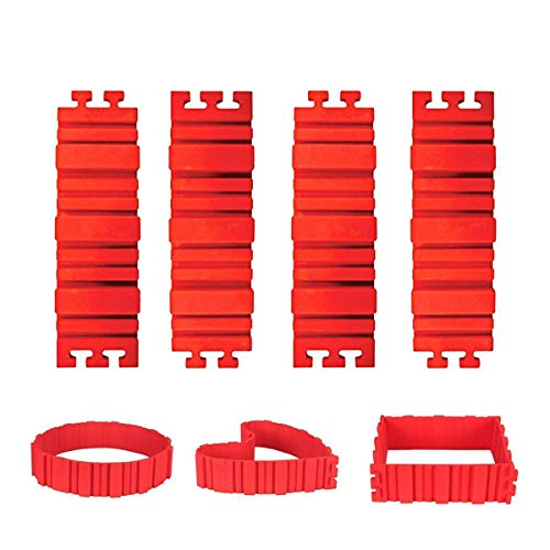 Shop Story 4-Piece Magic Modular Cake Mould Shaped Like a Heart or in Other Special Shapes Snake Cake Red Silicone